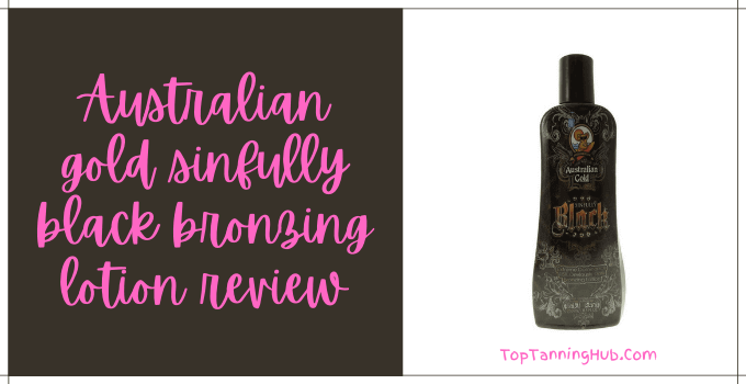 Australian gold sinfully black bronzing lotion review